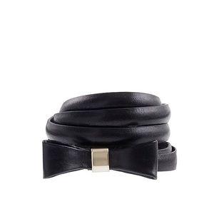 Jcrew leather bow skinny belt black small
